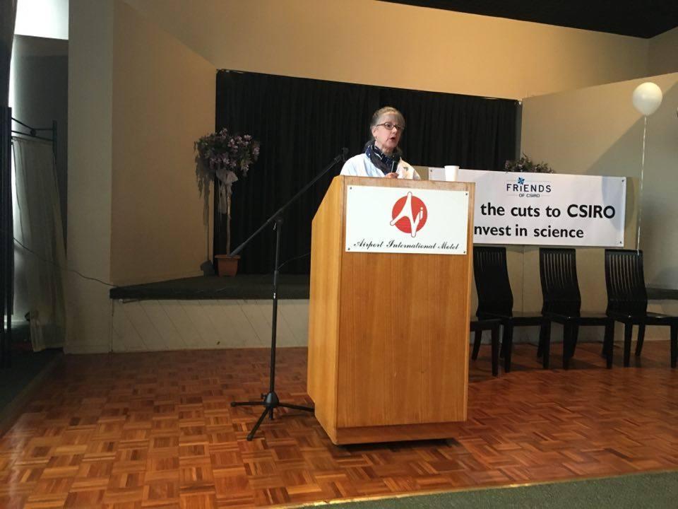 Fomer Chief Scientist of Australia at the CSIRO public forum.